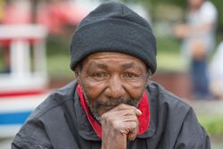 Elderly Homeless Man